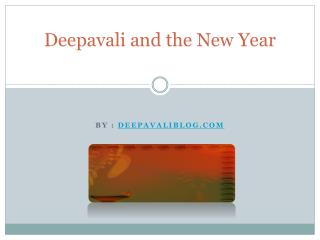 Deepavali and the New Year