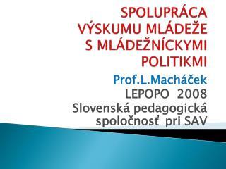 spolupráca výskumu mládeže s  mládežníckymi politikmi