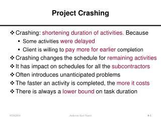 Project Crashing