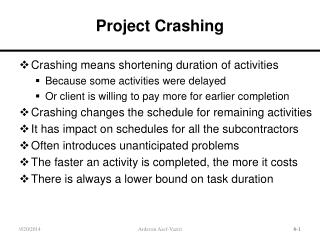 Project Crashing