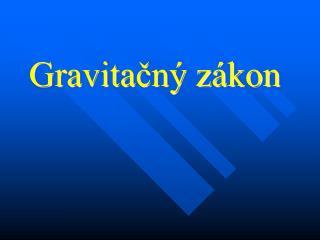 Gravitačný zákon