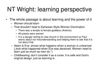NT Wright: learning perspective