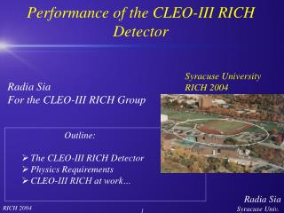 Performance of the CLEO-III RICH Detector