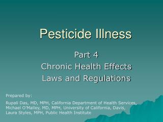 Pesticide Illness