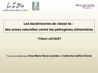 Les bactériocines de classe IIa :  des armes naturelles contre les pathogènes alimentaires