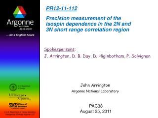 John Arrington Argonne National Laboratory
