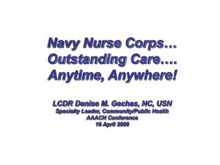 Navy Nursing