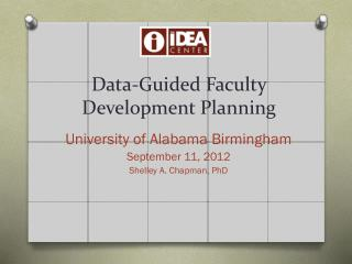 Data-Guided Faculty Development Planning