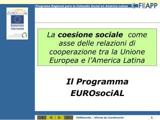 Il Programma EUROsociAL