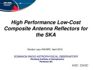 High Performance Low-Cost Composite Antenna Reflectors for the SKA