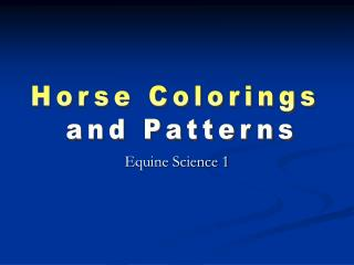 Equine Science 1