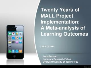 Twenty Years of MALL Project Implementation:  A Meta-analysis of Learning Outcomes