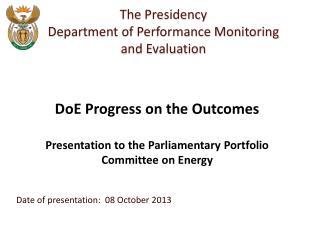 Date of presentation:  08 October 2013