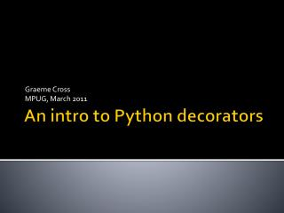 An intro to Python decorators
