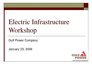 Electric Infrastructure Workshop