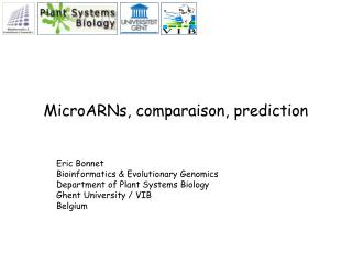 MicroARNs, comparaison, prediction