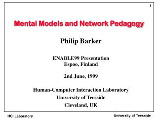 Mental Models and Network Pedagogy
