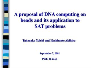 A proposal of DNA computing on beads and its application to  SAT problems