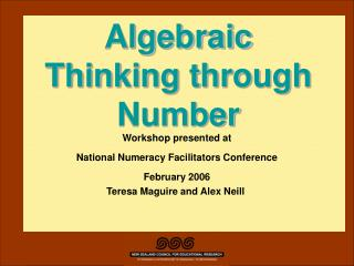 Algebraic Thinking through Number