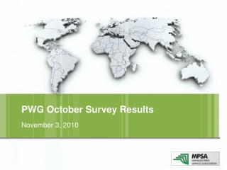 PWG  October  Survey Results