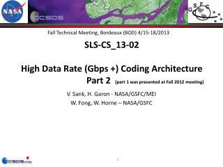 Fall Technical Meeting, Bordeaux (BOD) 4/15-18/2013