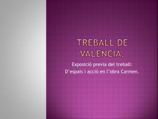 Treball  de  valencià .