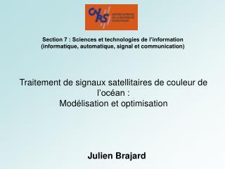 Traitement de signaux satellitaires de couleur de l'océan : Modélisation et optimisation