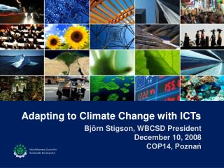 Adapting to Climate Change with ICTs