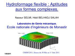 CMSM 2011, Sousse du 30 Mai au 1 er  Juin 2011