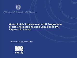 Il Programma di Razionalizzazione della spesa per beni e servizi della P.A.