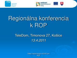 Regionálna konferencia k ROP