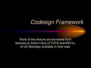 Codesign Framework