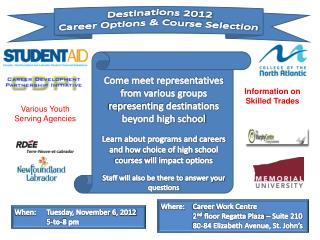 Destinations 2012 Career  Options & Course  Selection