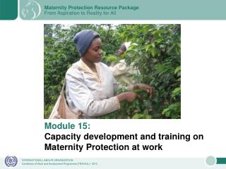 Module 15: Capacity development and training on Maternity Protection at work