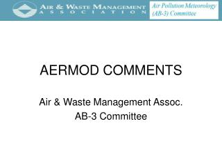 AERMOD COMMENTS