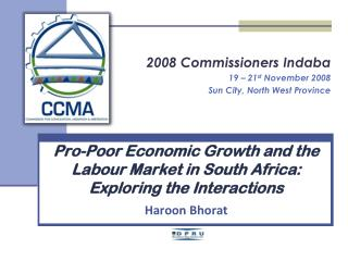 Pro-Poor Economic Growth and the Labour Market in South Africa:  Exploring the Interactions