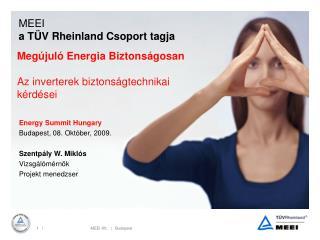 MEEI a  T�V Rheinland  Csoport tagja
