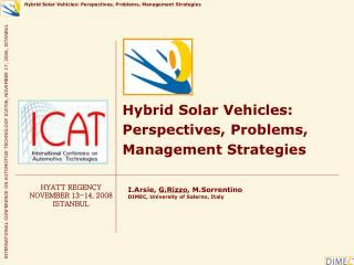Hybrid Solar Vehicles: Perspectives, Problems, Management Strategies