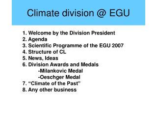Climate division @ EGU