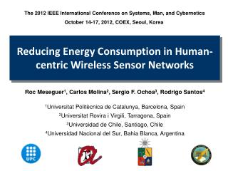 Reducing Energy Consumption in Human-centric Wireless Sensor  Networks