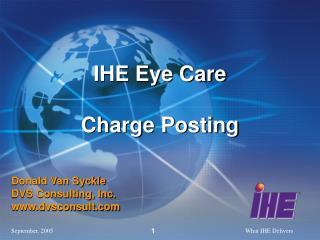 IHE Eye Care Charge Posting