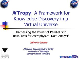 N  Tropy : A Framework for Knowledge Discovery in a Virtual Universe