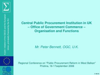 "Regional Conference on ""Public Procurement Reform in West Balkan"