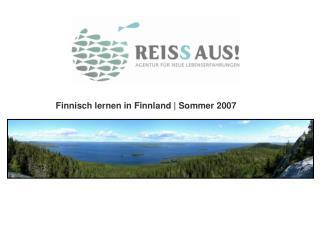 Finnisch lernen in Finnland  Sommer 2007