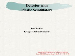 Detector with  Plastic Scintillators