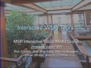 Interactive Video Tours