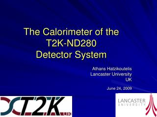 The Calorimeter of the  T2K-ND280  Detector System
