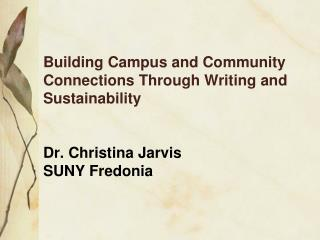 The Course—ENGL/AMST 399: Writing,  Sustainability and Social Change