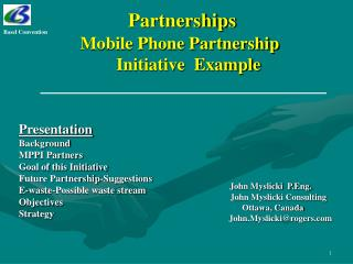 Partnerships Mobile Phone Partnership      Initiative  Example