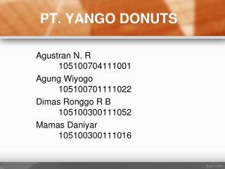 PT.  YANGO DONUTS